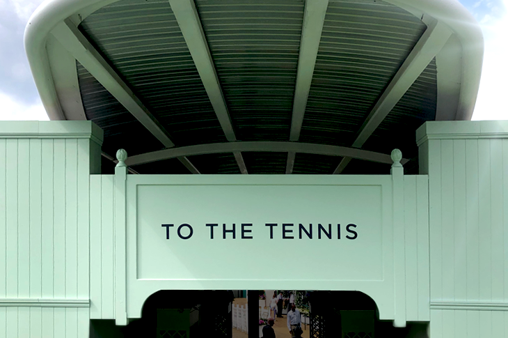 To the tennis!